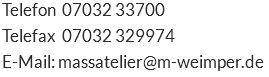mail Adresse Kontakt