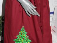 Schürze mit gesticktem Christbaum