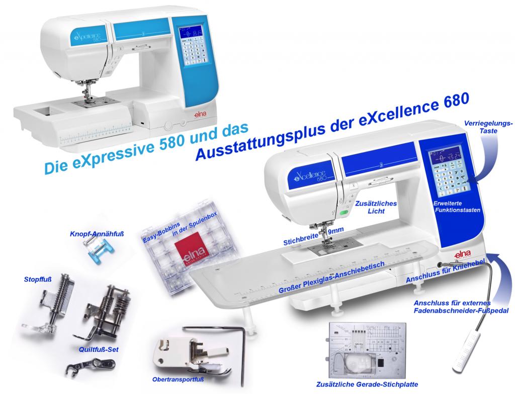 Unterschiede zw. eXperience 580 und eXcellence 680