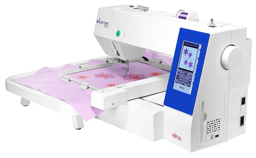 ELNA eXpressive 830 Sickmaschine Seitenansicht