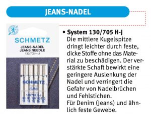 Schmetz Jeans-Nadel