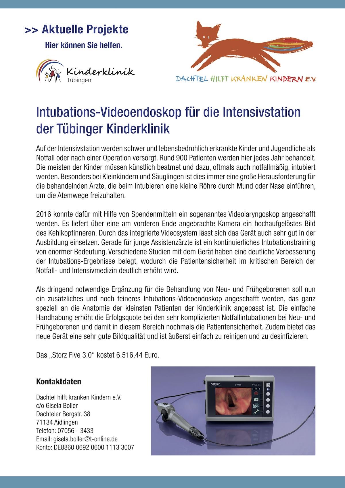 Intubations-Videoendoskop_Dachtel hilft kranken Kindern_2018