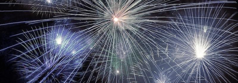 Feuerwerk kuppinger Weihnachtsleuchten