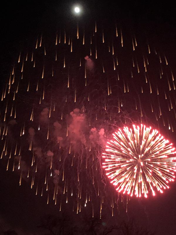 Kuppinger Weihnachtsleuchten Feuerwerk